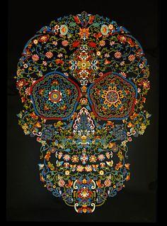 Cloisonné Skull