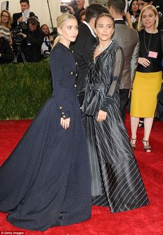 All decked out: The sisters glammed it up at the Met Gala in New York in May