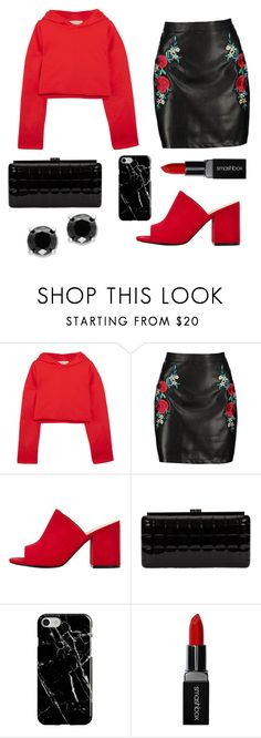 """""""REDy set go"""" by alyson7123 ❤ liked on Polyvore featuring Golden Goose, Boohoo, Chanel, Recover, Smashbox and Effy Jewelry"""