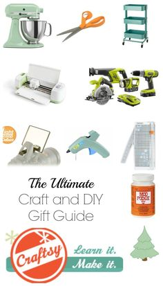 The Ultimate Craft and DIY Gift Guide: The items I cannot live without when I craft or DIY any projects. Great Christmas gift ideas. 15+ must have items.