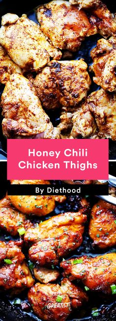 6. Honey Chili Chicken Thighs #Greatist http://greatist.com/eat/chicken-thigh-recipes