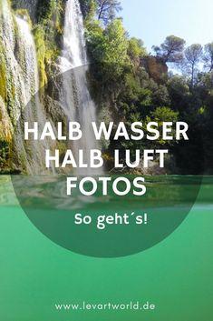 """Wie du """"halb über halb Unterwasserbilder"""" mit deiner GoPro erstellen kannst. Halb Wasser halb Luft Fotos - so geht´s."""
