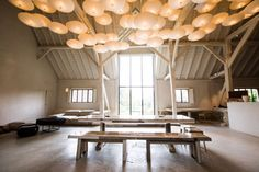The White Barn at Nyetimber Manor in West Sussex - designed by Joris Van Apers.