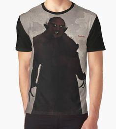"Happy Halloween! -  F. W. Murnau ""Nosferatu"""" Graphic T-Shirts by RedHillPrints | Redbubble"