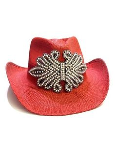Cowboy Hat... STONES Flower Hand detail 6600039b68b7