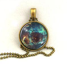 10% SALE Necklace Deep Galaxy Jewelry Universe by timegemstone