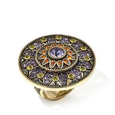 "Heidi Daus ""Kaleidoscope of Color"" Crystal Round Ring"