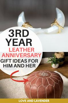 We found the best 3rd wedding anniversary gift ideas made from leather. Perfect for husband, wife, or for the favorite couple you know. See it here! #leathergifts #weddinganniversary #anniversarygifts #weddinganniversarygifts #thirdweddinganniversary