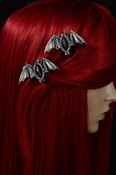 Carpe Noctem Bats Gothic Hairclips by Restyle -  need this for my purple hair when i get wed!