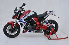Left side view tri colors bike