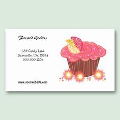 Sweet Pink Cupcake Design Business Card Template