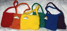 » BabyGirl's Rainbow Bags - easy crotchet idea to make for the kids