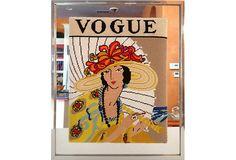 Needlepoint Vogue Magazine Cover on OneKingsLane.com