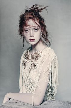 Model Natalie Westling by Paolo Roversi for Vogue Italia March 2016 - Chanel haute couture printemps-été 2016