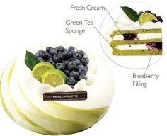 Green Tea Blueberry Cake