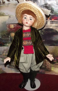 "SEELEY'S DOLL RARITIES ANTIQUE A. MARQUE STUNNING REPRODUCTION ANDRE DOLL 18"" sold $159 #SeeleysDoll"