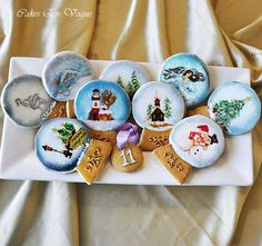 snow globe cookie wafer paper - Google Search