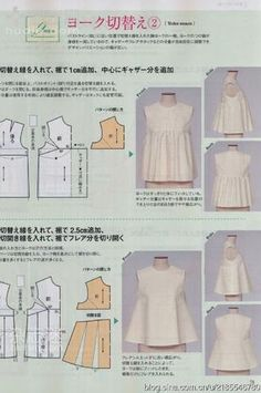 Sewing Blouse Tutorial Pattern Drafting 47 Ideas For 2019 Sewing Patterns Free, Sewing Tutorials, Clothing Patterns, Sewing Projects, Sewing Crafts, Diy Projects, Techniques Couture, Sewing Techniques, Sewing Blouses