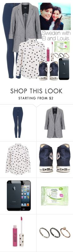 """Sweden with el and Louis"" by onedirection-outfits1d ❤ liked on Polyvore featuring Topshop, Marks & Spencer, Converse and Orelia"