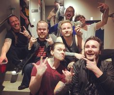 Via Zach: We gained some new band members ... @austin_aslions @bradwilliamscomic @iamchrisporter & @k_o.brand_kickasso in the back. #shinedown   Barry Kerch Brent Smith Eric Bass Shinedown Shinedown Nation Shinedowns Nation Zach Myers