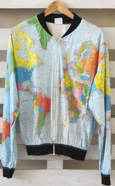 AMAZING Vintage Map Jacket