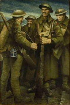 A Group of Soldiers - Christopher Richard Wynne Nevinson, 1917