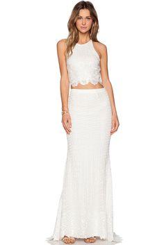 c17a73bdd9 Cross Back Bridal Lace Maxi Skirt Set Elegant White Dress, White Lace Skirt,  Lace
