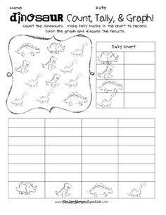{Just print and play!} by Nora Davis Graphing First Grade, First Grade Classroom, Preschool Classroom, Measurement Activities, Graphing Activities, Graphing Worksheets, Kindergarten Worksheets, Pre K Schools, Dinosaurs Preschool