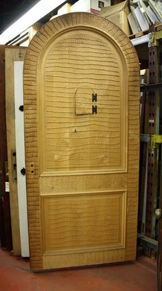 Arched Entry Door; Hand Carved W/speakeasy [JP15 181]   · Architectural  SalvageEntry ...