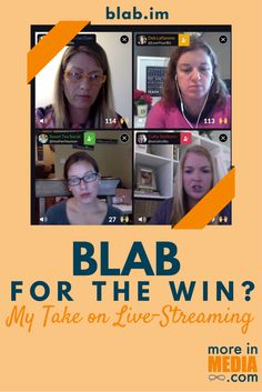 Blab for the win? My take on Live-Streaming. Check out Blab and join me on a Blab, soon!