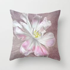 Tulip Throw Pillow by Fiona & Paul Photography and Digital Art - $20.00