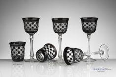 CRISTALLERIE DE MONTBRONN Black Diamond Carafe, Vases, Tableware, Crystal, Drinkware, Dinnerware, Decanter, Dishes, Jars