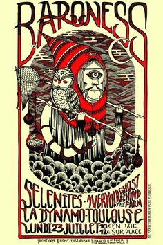 #Baroness #Selenites - RTMT009 - limited silkscreen preview - art by MaHell de Narval - silkscreen by Atelier Deux-Mille