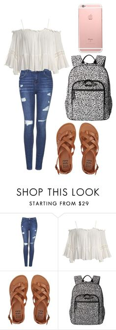 "Back to School Outfits ""back to school outfit"" by fashionblogger2122 on Polyvore featuring Topshop, Sans Souci, Billabong and Vera Bradley"