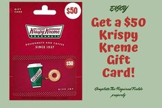 Get a Free $50 Krispy Kreme Gift Card!  It's trusted , easy to get & working 100%. To get this offer you need to go to the link & have to complete a simple survey.  #KrispyKremeGiftCard #krispykremegiftcard #KrispyKreme #krispykremedoughnuts #KrispyKremes #krispykremeaustralia #krispykremede #krispykremeglasgow #krispykremegermany #KrispyKremeDr #KrispyKremeDoughnut #krispykremecandle #krispykremeburger #krispykremebraehead #krispykremedonuts #krispykremeswag #krispykremerussia