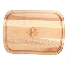 The Large Monogrammed Cutting Board is the perfect freshener for your own kitchen or great to gift for a new house.