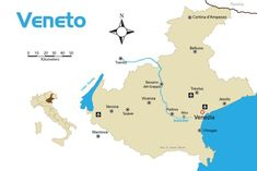 veneto region map - by James Martin