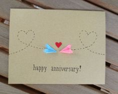 long distance valentine valentine's card by FubiniCrafts on Etsy
