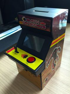Earth Defenders- Space Invaders style mini arcade machine that can be played when you insert a coin!