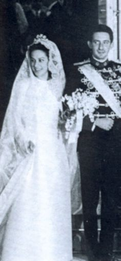 Wedding of Prince Michael of Greece and Marina Karella.  A morganatic marriage which forced Prince Michael to renouce any rights to the throne on behalf of himself and his descendants.  Prince Michael was the son of Prince Christopher of Greece and Denmark and Princes Francoise d'Orleans.