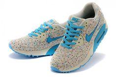 Nike Air Max 90 Fleurs Dames - Hemelsblauw Originele