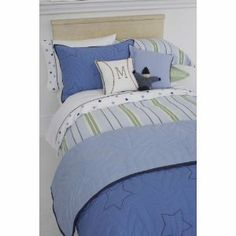 Whistle & Wink Blue Preppy Stripe Twin Duvet Cover by Whistle & Wink. $209.00. 100% cotton. 240-thread-count. Machine wash/dry. Hand Quilted. Embroidered. Preppy Stripe Bedding. Classic light blue, green, white and navy yarn dye ticking stripe. 240-thread-count 100% cotton twill percale. Duvet and Standard sham with flange. Machine wash/dry.