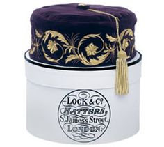 Embroidered Smoking Cap                                    -> Lock & Co Hatters