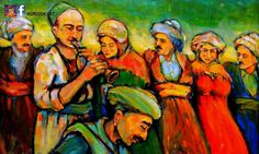 Art work ( painting ) of Khaled Sattar 1954 born in Kerkuk