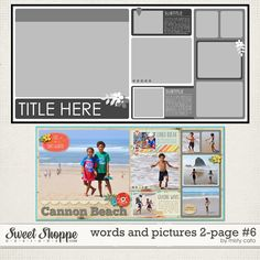 Words and Pictures 2-Page #6 by Misty Cato available at Sweet Shoppe Designs
