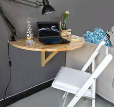 SoBuy Tavolo da muro pieghevole in legno 70×45cm, FWT04-W, IT ...
