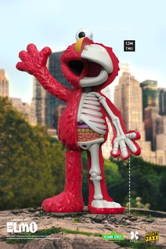 Launching on 30 Sept, your new best friend! Say hello to the Life-Size XXRAY Elmo, standing at a true-to-life 1.2m tall, admire Elmo in all his dissected glory. Elmo Sesame Street, Designer Toys, Say Hello, Best Friends, Product Launch, Christmas Ornaments, Holiday Decor, Artist, Life