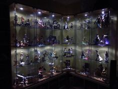 A load of Anime, Manga, Comic Book, movie and game figures in a big display case… Someday.