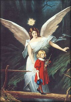 Guardian Angel print, large poster by TheRecycledGreenRose on Etsy Guardian Angel Pictures, Guardian Angels, Angel Protector, Angels Among Us, Angels In Heaven, Angel Art, Blessed Mother, Vintage Images, Things To Come