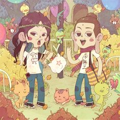 monkeysome:  bisparulz:  saint young men by Bisparulz  THIS IS MY FAVORITE ARTIST AND HE DREW SAINT ONII-SAN